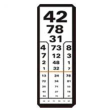 kézi látásvizsgálati táblázat