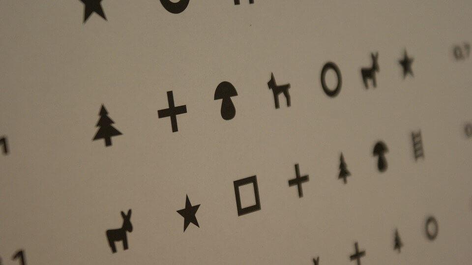 látásvizsgálat egy táblázat segítségével
