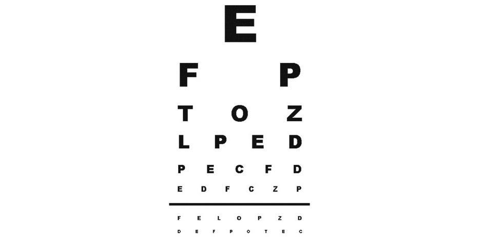 Közel látás tábla meghatározása