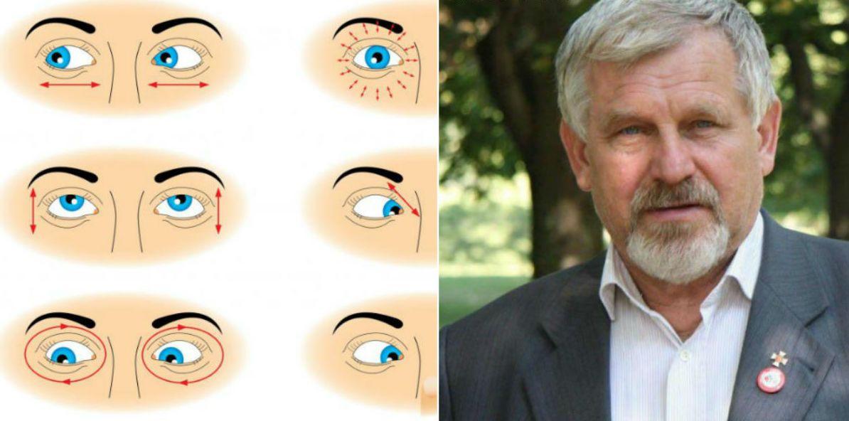 szemgyakorlat a látás helyreállítására pszoriázisos látással