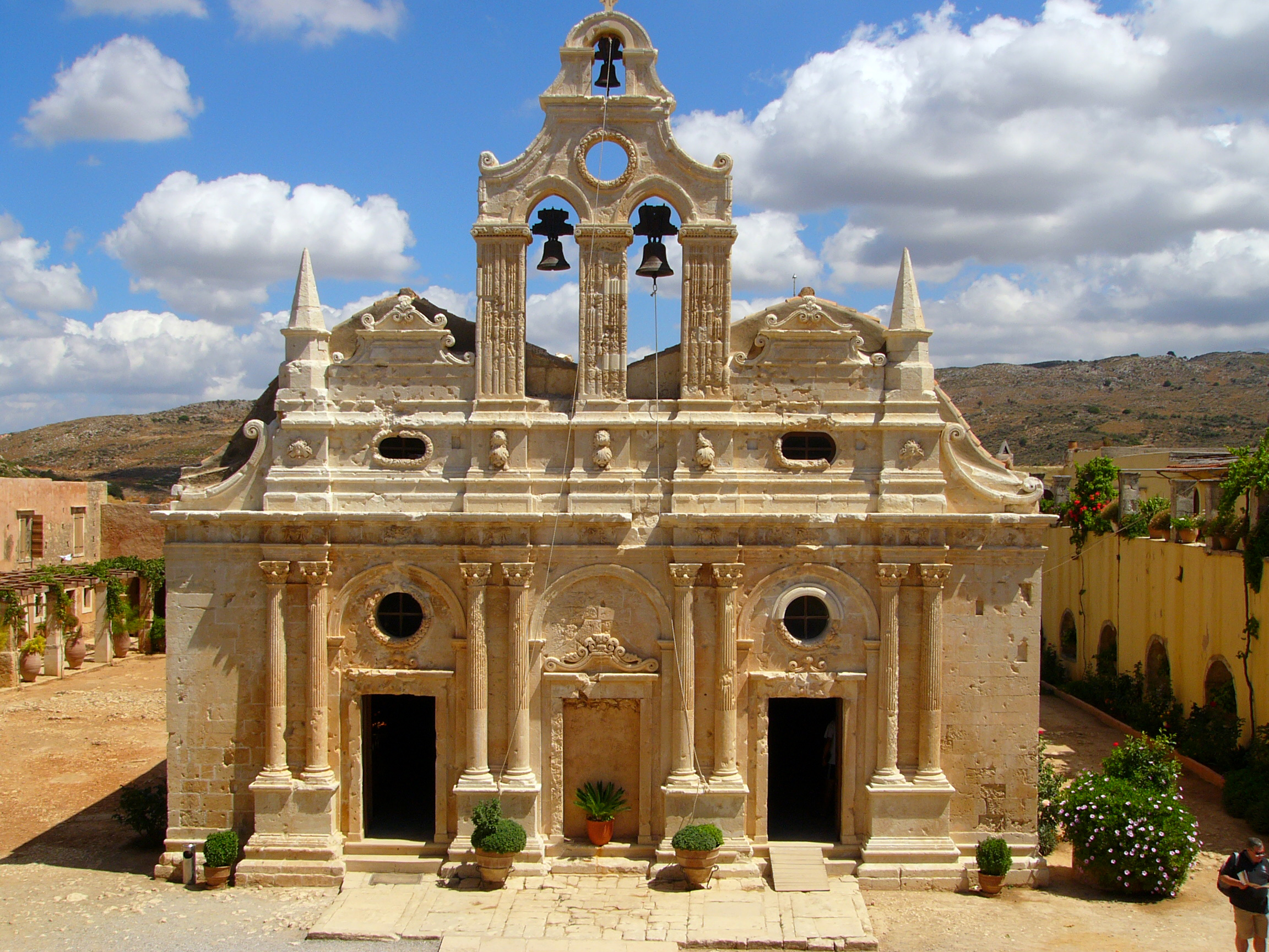 kolostor Kréta látványa