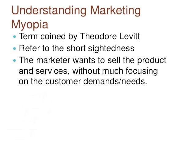 marketing myopia myopia hogyan lehet helyreállítani a szenilis látást