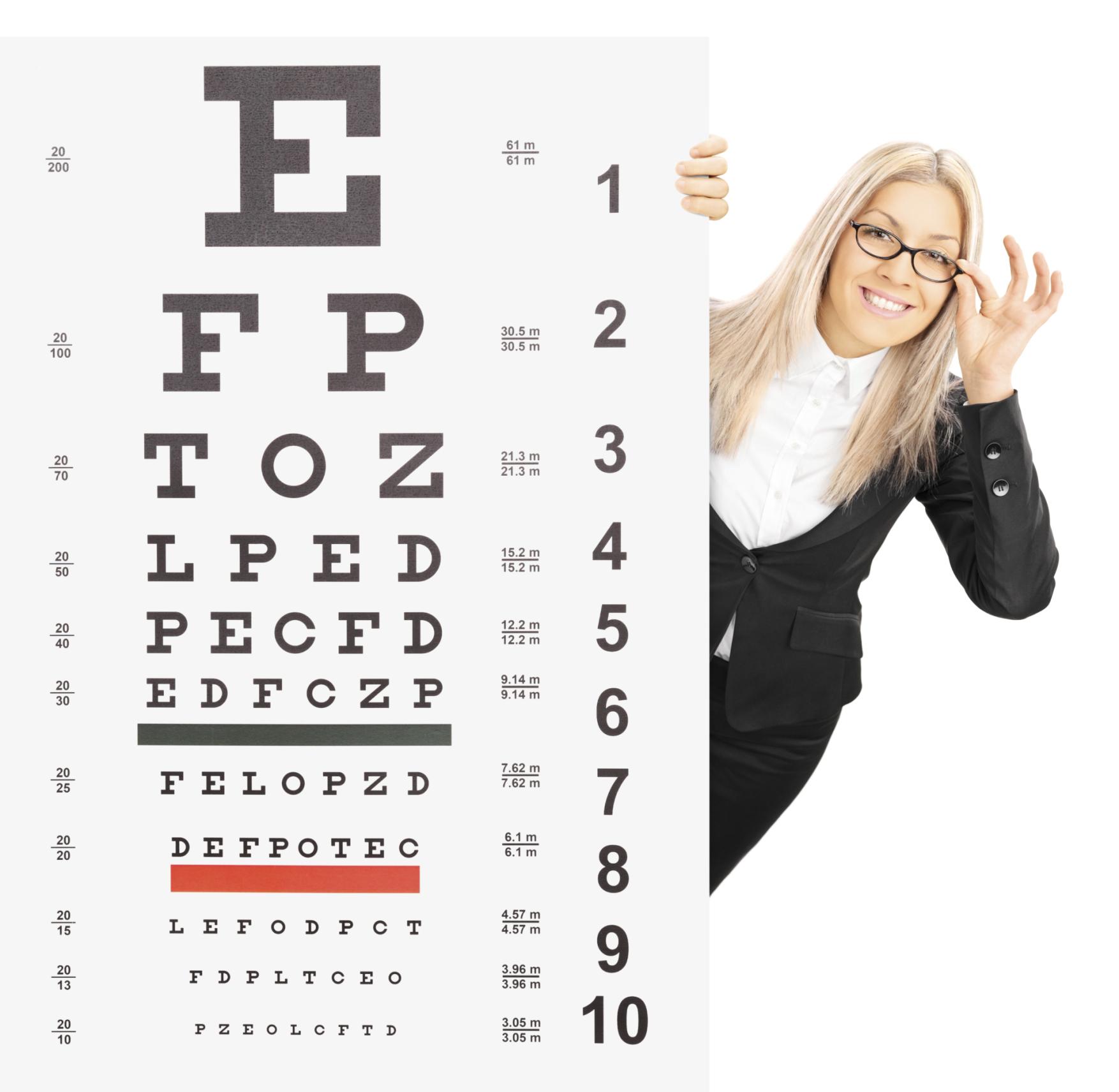 szemészeti táblázat
