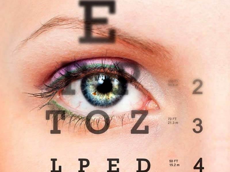 4 látás vakság látásvizsgálati asztal 30cm