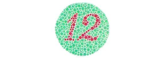 számok a látás tesztelésére