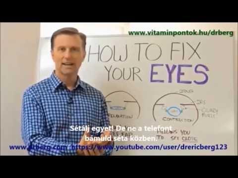 hogyan lehet táplálkozással javítani a látást Bates módszer a látásra