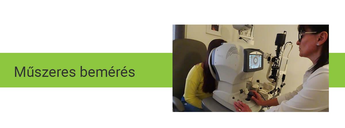 szemészeti műszerek beállítása